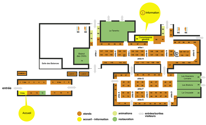 Plan du salon 2019